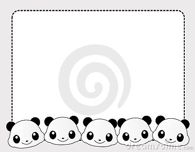 Panda clipart frame #9
