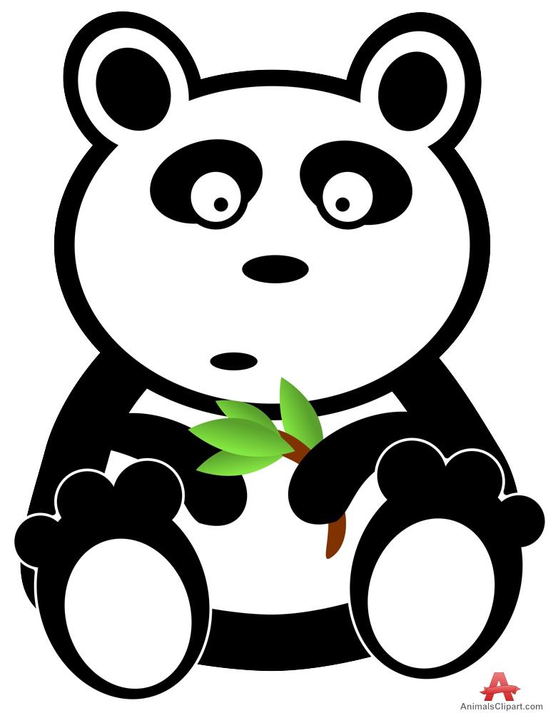 Panda clipart hand Bear Branch Bear Clipart Design