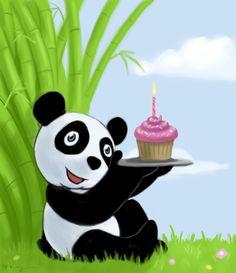 Cards clipart chinese panda Cute birthday card Panda Panda