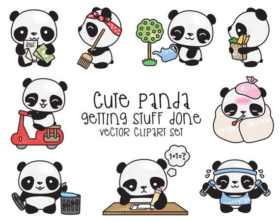 Panda clipart kawaii Clipart Cute Panda by Premium