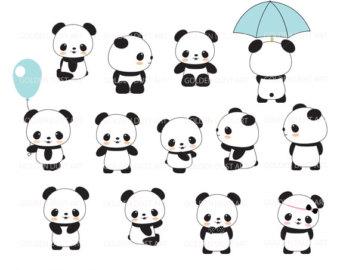 Panda clipart kawaii 4th SALE Kawaii SALE Clip