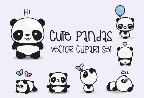 Panda clipart kawaii Clipart Clipart Pandas Cute Instant