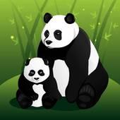 Panda clipart mama Art GoGraph Royalty Happy Cub