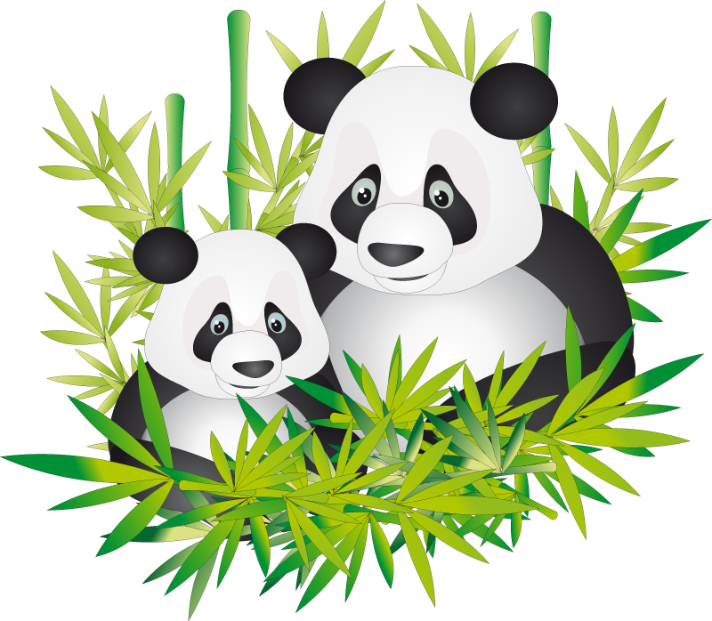 Panda clipart mother and baby #9