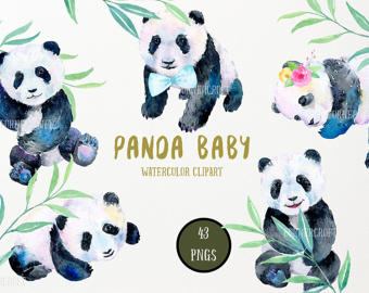 Panda clipart mother and baby #10