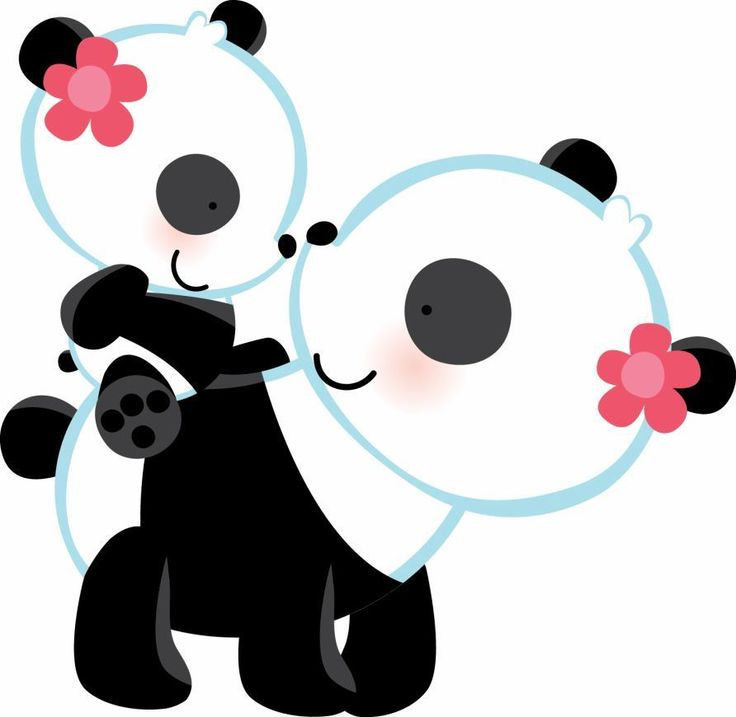 Panda clipart mother and baby #6