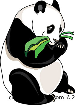 Panda clipart panda bamboo Clipart Free clipartcow Pictures clipart