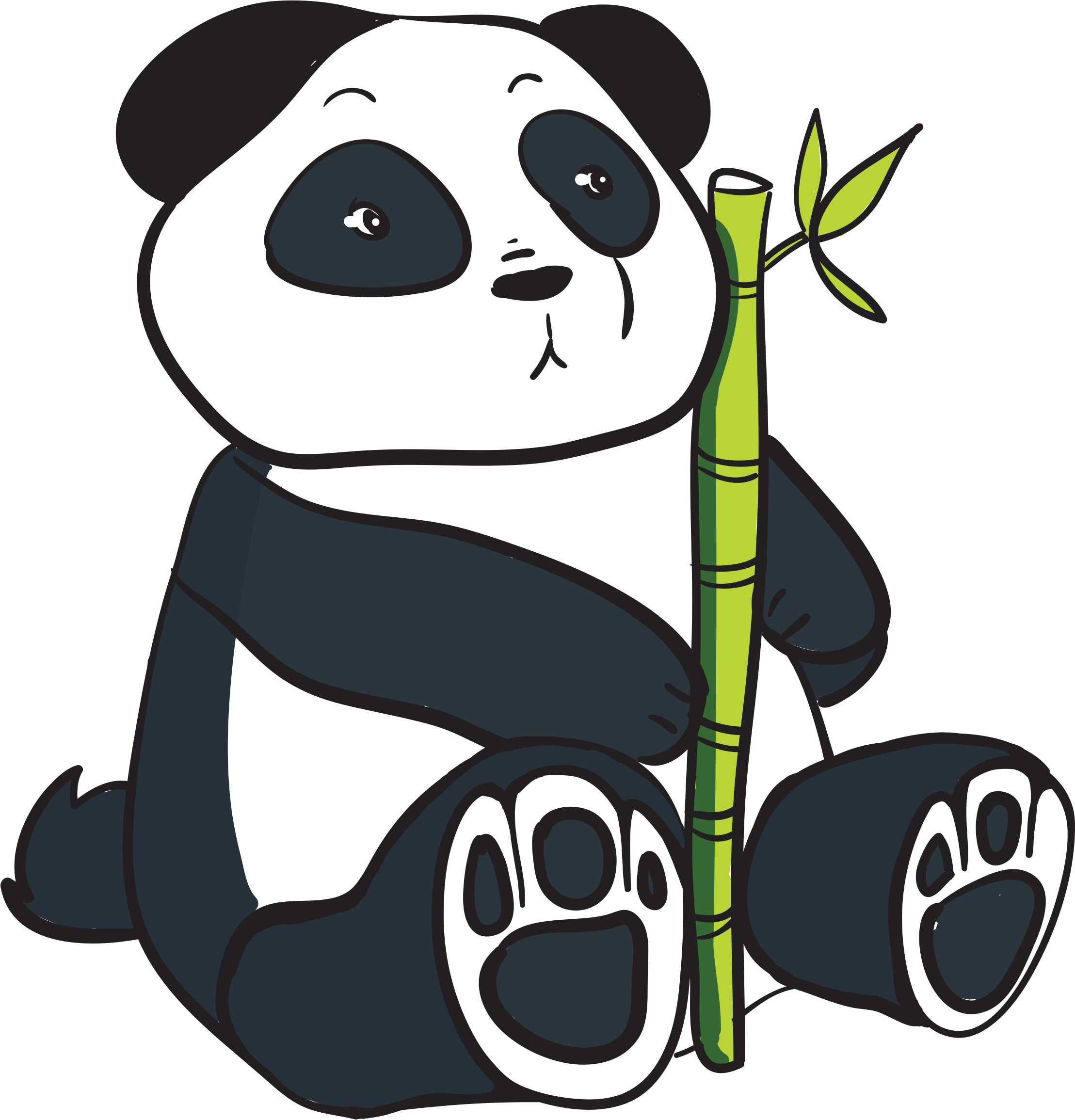 Panda clipart panda bamboo Stalk with panda Clipartix stalk