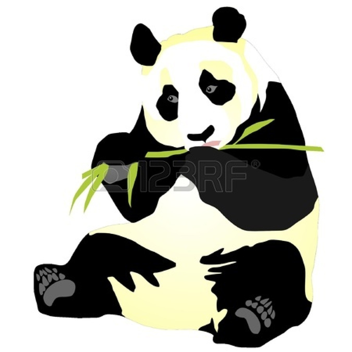 Red Panda clipart bamboo clipart #14