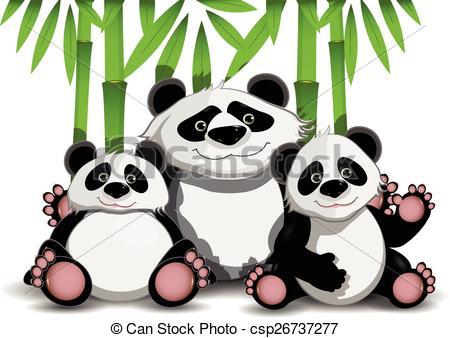 Panda clipart three #6