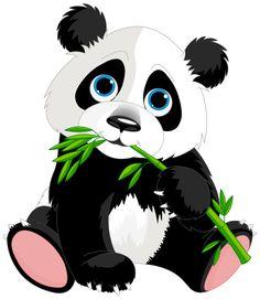 Panda clipart three #3