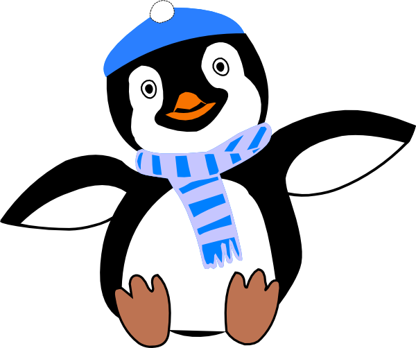 Penguin clipart scarf clipart Penguin Winter Panda Art Clip