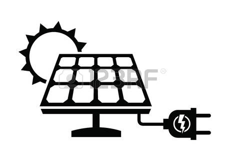Panels clipart black and white 515 white panel Solar collection