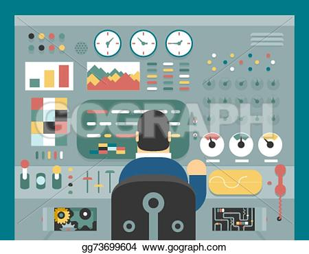 Panels clipart business study Production front in of businessman