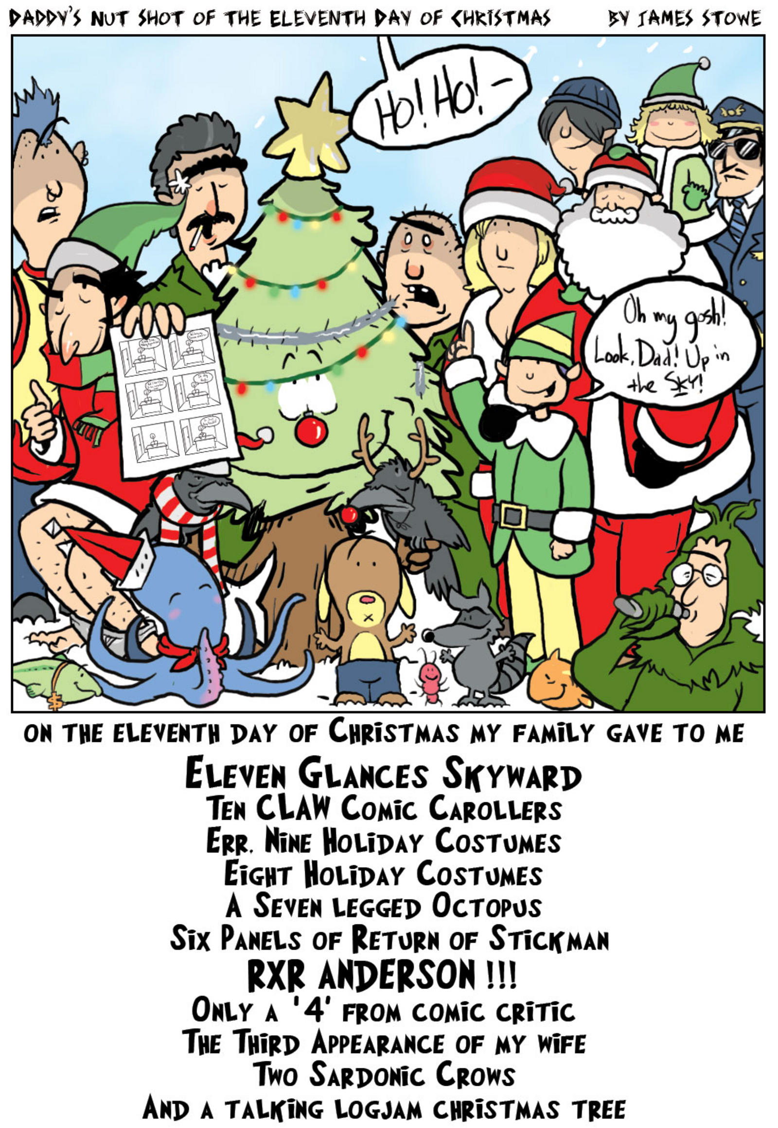 Panels clipart community resource Comics Nutshot Christmas Daddy's (DNOTD