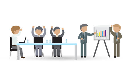 Panels clipart group conversation Services to Your Business Rate