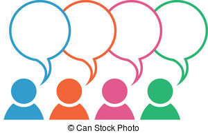 Panels clipart group discussion EPS Clipart Discussion Discussion clip