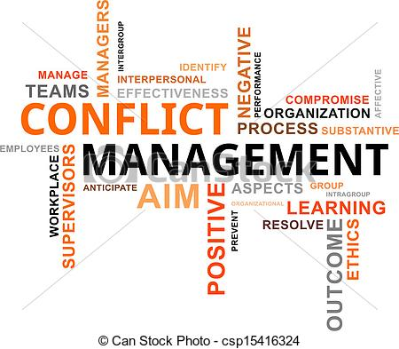 Word clipart ict Conflict word of cloud Illustration