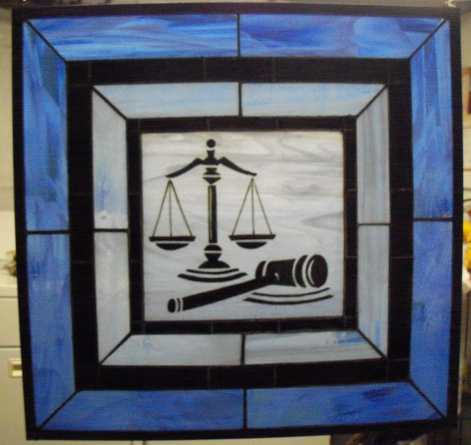 Panels clipart panel judge Lawyer Scales Stained Kiln Panel