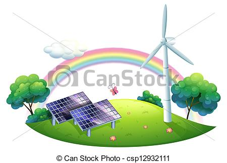 Panels clipart renewable energy Energy and windmill a and