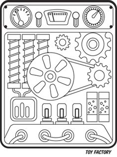 Panels clipart robot control Control on printable panel and