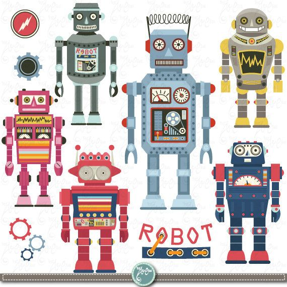 Panels clipart robot control Invitations Pinterest ART