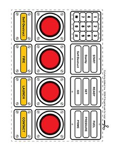 Panels clipart rocket control  Well panel spaceship printables