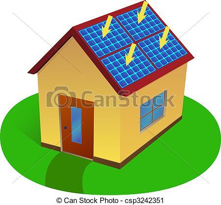Panels clipart saving energy Of Clip energy house Vector