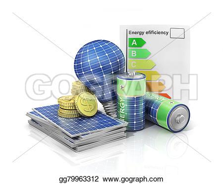 Panels clipart saving energy Use solar panel Concept energy