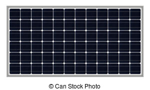 Panels clipart solar cell And of solar panel render