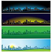Panorama clipart new york skyline Art Panorama Creative City city
