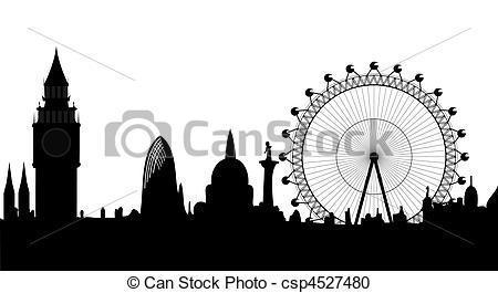 Panorama clipart cityscape  Image of vector London