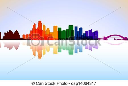 Panorama clipart paris france Sydney panorama of Clip Art