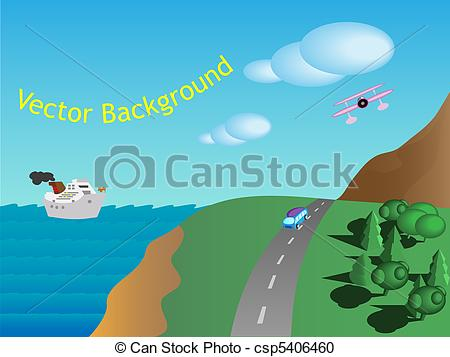 Panorama clipart animated Clipart  Search csp5406460 Vector