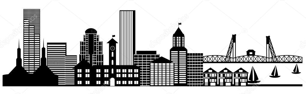 Panorama clipart city building #1