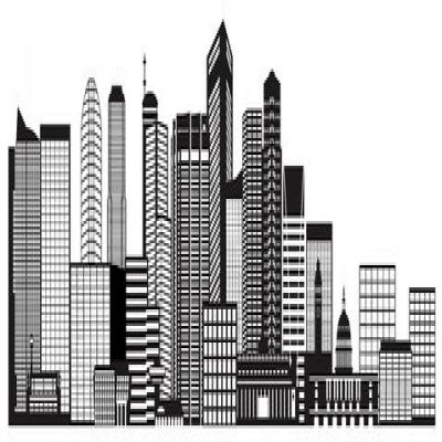 Panorama clipart city building #4