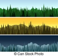Panorama clipart forest Panorama panorama Forest morning Forest