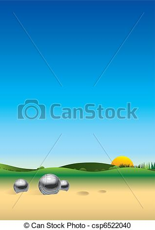 Panorama clipart water land Csp6522040 Panorama csp6522040 petanque Search