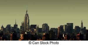 Panorama clipart manhattan Vector panorama Manhattan 255 Illustration