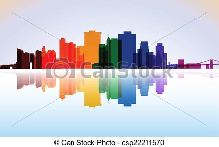 Panorama clipart manhattan Illustration Manhattan panorama csp22211570 New