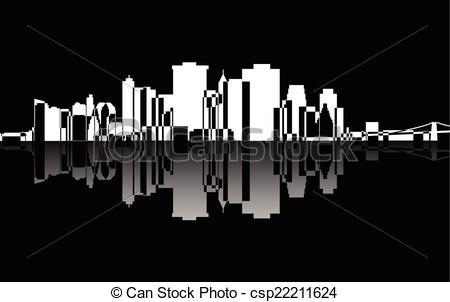 Panorama clipart manhattan Csp22211624 Vector Manhattan  City
