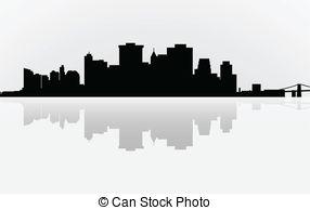 Panorama clipart manhattan Manhattan York and panorama Clip