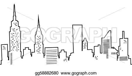 Skyscraper clipart ny skyline City Clip Art Cartoon Illustration
