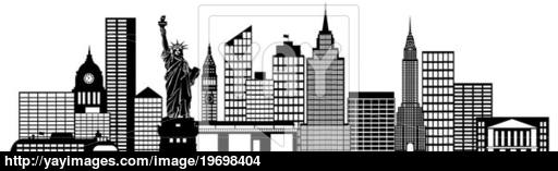 Panorama clipart new york skyline City New New YayImages Art