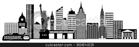 Panorama clipart new york skyline City New Similar photo Art