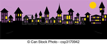Panorama clipart old city #1