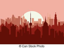 Panorama clipart old city #5