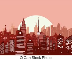 Panorama clipart old city #3
