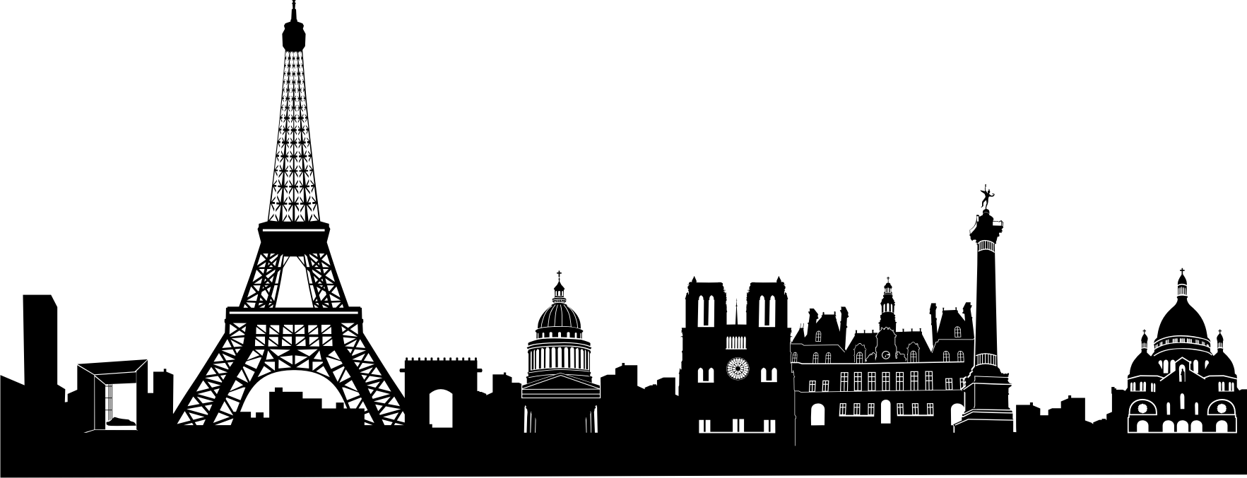 Panorama clipart valley  Wand silhouette Paris paris