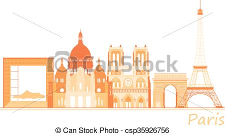 Panorama clipart paris city Places panorama City csp35926756 world